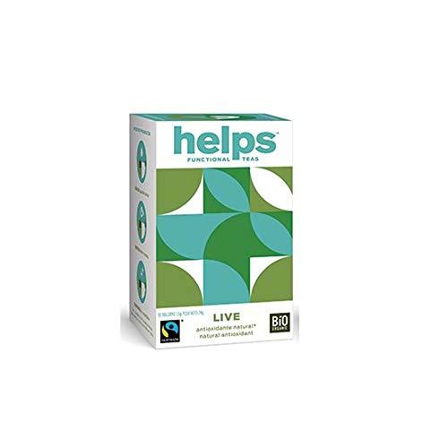 HELPS INFUSIES - Antioxidant-infusie van groene thee en pepermunt. Afslanken en thermogeen. Helps Live. Doos met 16 zakjes.