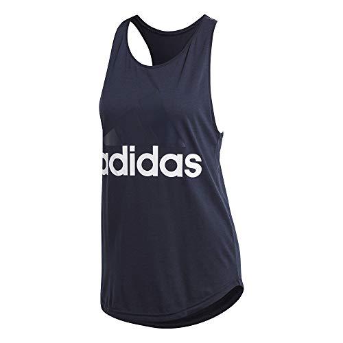 adidas ESS Lin Lo Camiseta, Mujer, Azul/Blanco (Legend Ink f17), XS