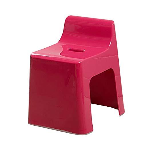 Taburete De Ducha Sanitario Tabureteducha Plastico Taburete Lavado Pies Taburete Bano Eguridad Moda Taburetes Bano para Ninos Trapezoidales con Respaldo Multiusos,Red