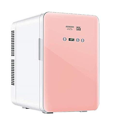 LT 20L Tablet Mini Koelkast Auto Koelkast Dual Core digitale display Temperatuurinstelling Auto Startseite Dual Use Single Door Ultra stil geluidsarm Elektronische koeler en warmer roze goud