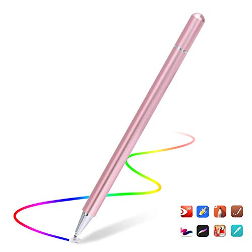 Capacitive Stylus Pen for Touch Screens, High Sensitivity Pencil Magnetism Cover Cap for iPad Pro/iPad Mini/iPad Air/iPhone Series All Capacitive Touch Screens (Rose Gold)