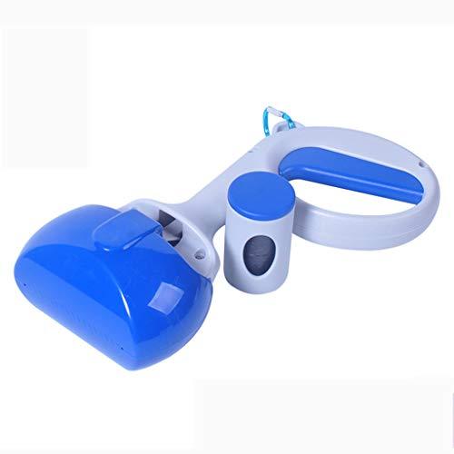 Chien Pooper Scooper Portable Mâchoires-Ramasseurs Mâchoire Outil de Nettoyage Facile Poignée Grabber pour Chien et Chat - Bleu