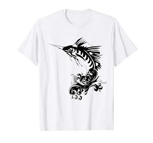 Schwertfisch Shirt Ozean Fisch angeln Damen Herren Kinder T-Shirt