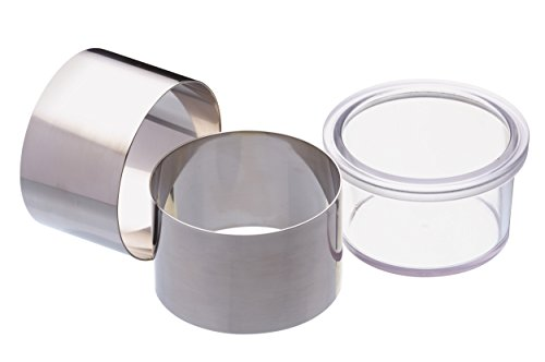 MasterClass kitchen Craft 2-Piece Cooking Rings, Stainless-Steel, Silver, 9 x 12 x 16 cm
