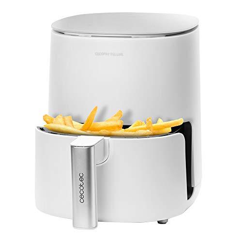 Cecotec Freidora dietética Cecofry Deluxe Rapid Sun. Capacidad 2,5 litros, Cestillo y Rejilla Aptos para lavavajillas, Potencia 1400 W, 8 Modos, Temperatura hasta 200ºC