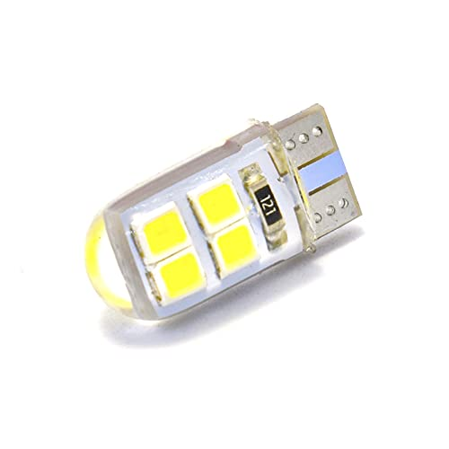 1 unids W5W LED T10 Coche Bombilla de la luz de la sílice corta Gel de la cúpula de alto brillante Cúpula brillante Láminas de la señal de la placa de la cuña Lámpara de señal 12V Amarillo blanco