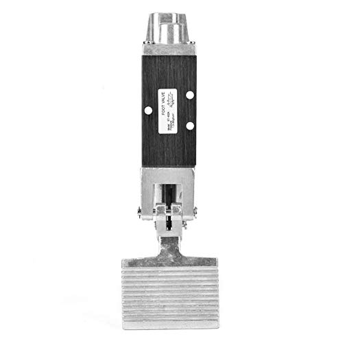 ViewSys Foot-interruptor de la válvula, G1 / 4 2 Posición 5 Vía aérea neumática momentáneo del metal del interruptor de pie del pedal de control de presión de aluminio Industrial aleación Pedal Válvul