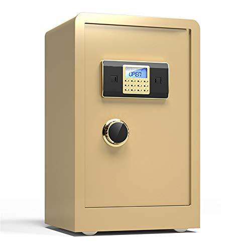 Kabinettsafes Solide Alloy Steel Construction Passwort Schlösser for Home Office Hotels Digital Safe Box für den Einsatz zu Hause oder im Büro (Color : Gold, Size : 60x38x33cm)