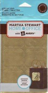 Martha Stewart Embossed Labels