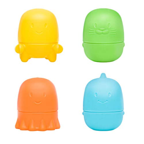 Ubbi Interchangeable Mold Free Bath Toys for Toddlers and Baby