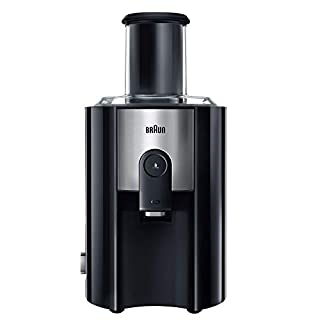 Braun J500 Multiquick Juicer - Licuadora Exprimidor, 900w, surtidor anti-salpicaduras, jarra de zumo 1,25 l, acero inoxidable, negro/plata, 38,1 x 51,1 x 26,4 cm (B006IBO0Z6) | Amazon price tracker / tracking, Amazon price history charts, Amazon price watches, Amazon price drop alerts