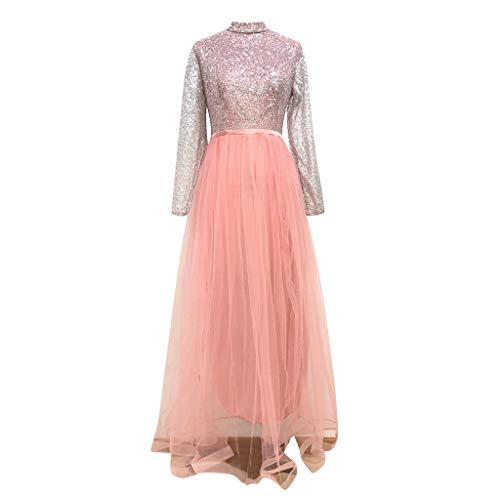 AIni Damen Kleider Bronzierendes Netzkleid Langarmkleid Prinzessin Kleid Party Clubwear Sommerkleid FüR Damen Brautkleid Tshirt Kleid Cocktailkleid Elegantes Vintage Kleid Abendkleid
