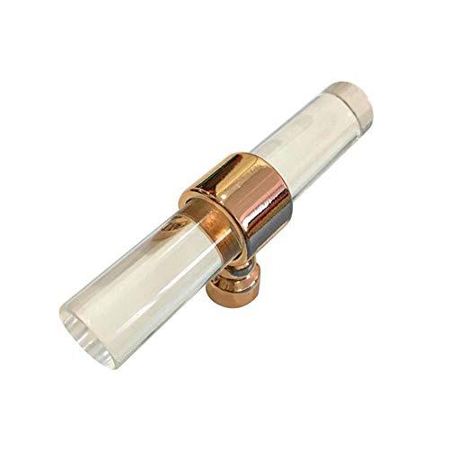 Acryl Schublade Griffe Gold Transparent Badezimmer zieht Griffe Schrank Kommode Griffe von Blue Vesse (80mm, Rose Gold)