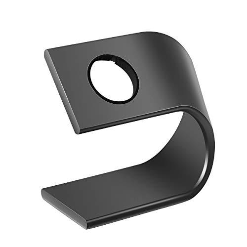 NICERIO Aluminium Uhr Stand für Apple Watch, Mount Halter Stand Tisch Stehen für Apple Watch (Dunkelgrau)
