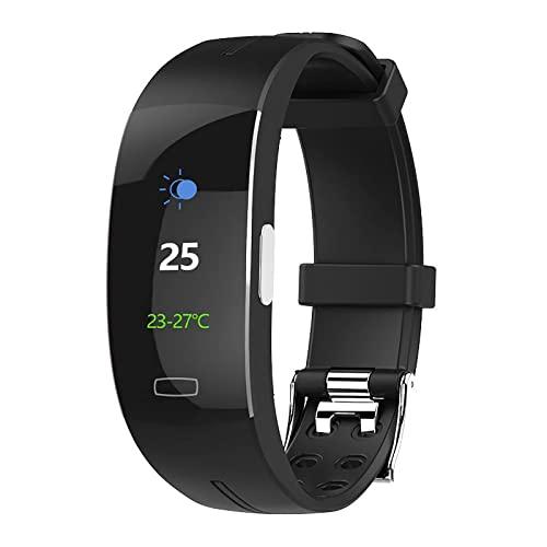 ZGNB P3A Reloj Inteligente para Hombre Temperatura ECG PPG Frecuencia Cardíaca Monitoreo de Presión Arterial Reloj Inteligente Rastreador de Fitness para Hombre y Mujer Pulsera Inteligente (E)