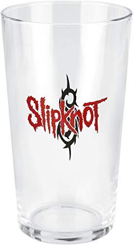 Slipknot Slipknot Logo Unisex Pint-Glas klar Glas 0,5 l Alkohol & Party, Band-Merch, Bands