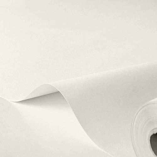TOLKO Markisen-Stoffe einfarbig WASSERDICHT UV-beständig Meterware am Stück (Natur-Weiß)