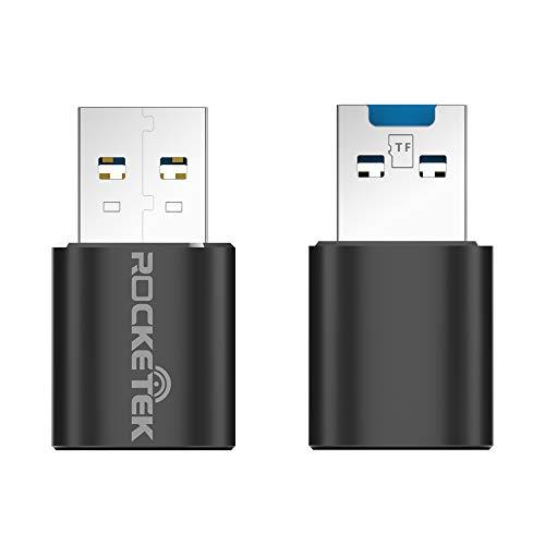 Rocketek Adaptador de lector de tarjetas de memoria TF portátil USB 3.0 para tarjeta TF / Micro SD / Micro SDXC / Micro SDHC, compatible con Windows / Mac OS / Linux
