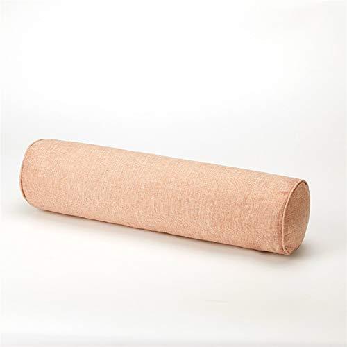 DGHSB Almohada de cuello para el hogar, dormitorio, embarazo, almohada larga, soporte de cuerpo redondo, cojín de espuma viscoelástica (color: rosa claro, tamaño: 20 x 80 cm)