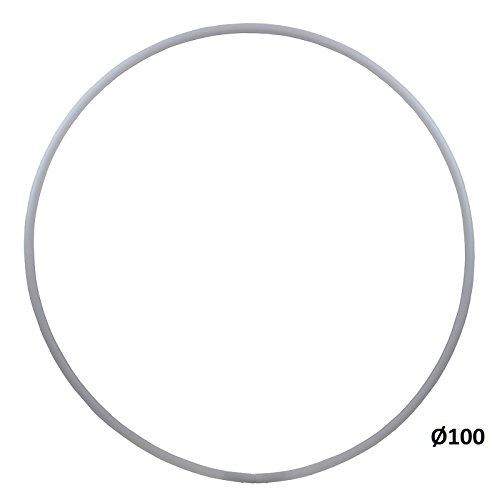 hoopomania® Hula Hoop Rohling, HDPE-16mm, Weiss, Durchmesser 100cm
