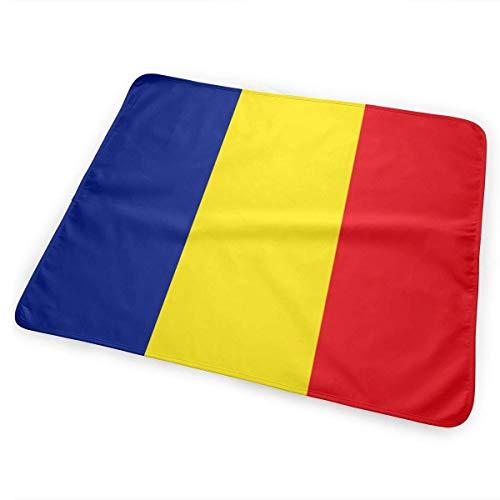 Roemeense vlag veranderen pad waterdichte herbruikbare grote baby veranderen mat te veranderen luier matras pad cover voor jongen en meisje pasgeborene (25,5