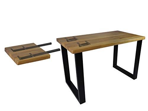 Magnetic Mobel Erweiterung Tischplatte Erweiterungsplatte Metall Schwarz Weiss (Schwarz, 2 Stück)