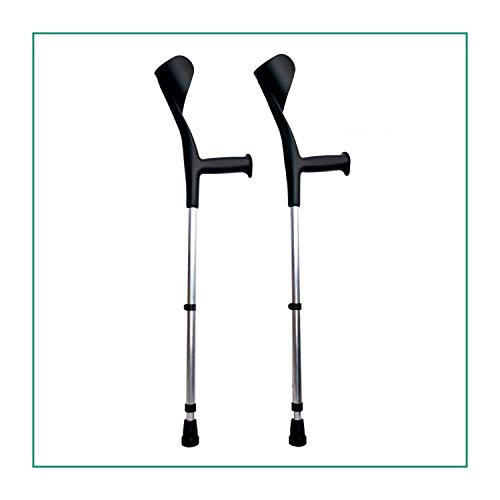 ORTONES | Pack de 2 Muletas Adulto Regulable de Aluminio ⭐
