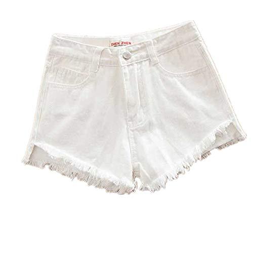 NOBRAND pantalones cortos de mezclilla para mujer, pantalones cortos de verano, pantalones vaqueros, talla grande, de talle alto, pantalones cortos
