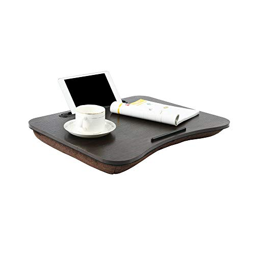 Lap Tray With Cushion Laptop Stand For Bed Laptop Desk Laptop Lap Tray Bed Tray Laptop Bed Table As Book Stand/Sleeping Pillow/Lap Desk With Cable Hole & Anti-Slip Strip
