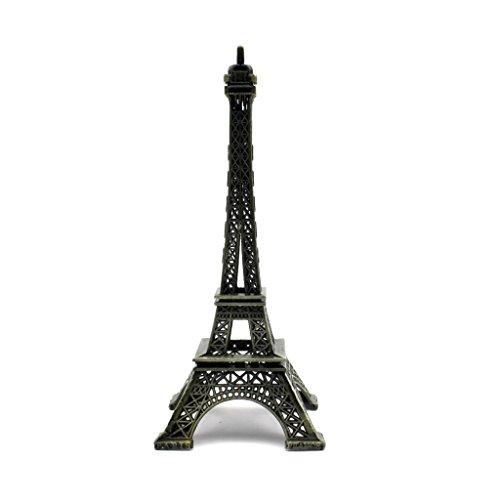 HuntGold 1 X Statue Figurine Paris Tour Eiffel décoration maison décoration de Noël 22 cm