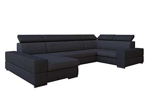 Mirjan24 Großes Ecksofa Trydent, Moderne Polsterecke, Elegante Eckcouch mit Bettkasten und Schlaffunktion, U-Form Couch Couchgarnitur (Ecksofa Links,...