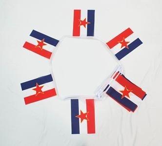 6m 20 vlag Joegoslavië met Star bunting