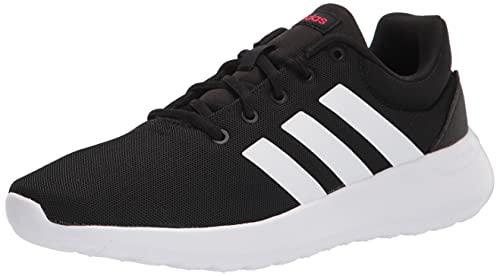 adidas Lite Racer CLN 2.0 Running Shoe, Black/White/Scarlet, 6 US Unisex Big Kid