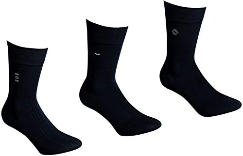 socksPur HERREN SOCKEN edle Anzugsocke BLACK DESIGN 3er BÜNDEL (47-50, 31005: BLACK DESIGN schwarz XL)