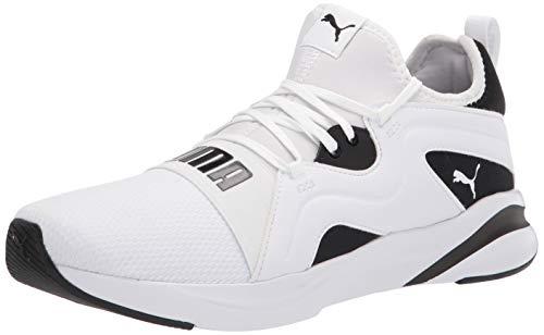 PUMA Men's SOFTRIDE RIFT Breeze Running Shoe, White Black, 12