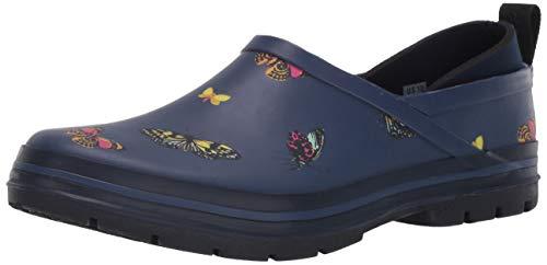 Chooka Women's Madrona Neoprene Waterproof Step-in Shoe with Memory Foam Insole Rain, Butterfly Navy, 8