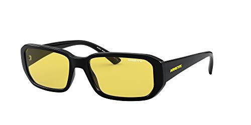 Arnette Men's AN4265 Gringo Rectangular Sunglasses, Black/Yellow, 55 mm