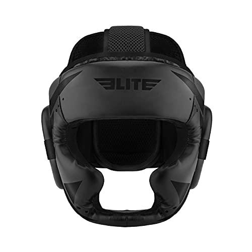 Elite Sports Boxing MMA Sparring Kickboxing Headgear for Men, Muay Thai Boxing Head Guard Helmet for Head Protection (Black)