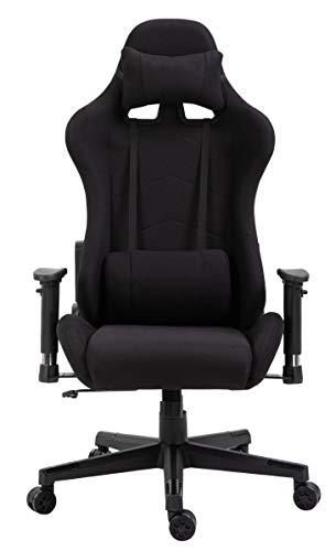 Delman Racing Bürostuhl Schreibtischstuhl Gaming Chair Drehstuhl Computerstuhl Stoff Bezug mit...