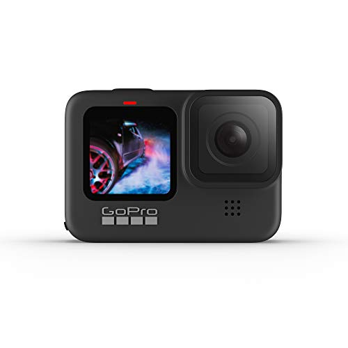 GoPro HERO9 Black - Fotocamera sportiva impermeabile con schermo LCD anteriore e touch screen posteriore, video Ultra HD 5K, foto da 20 MP, live strea