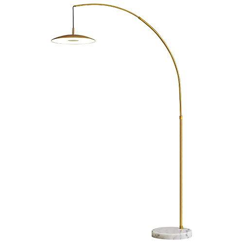 N/Z Home Equipment Lichtbogenlampe LED Stehleuchte Dimmbar mit Fernbedienung Moderne Stehlampe Höhenverstellbare Stehleuchte mit Marmorsockel für Wohnzimmer Schlafzimmer