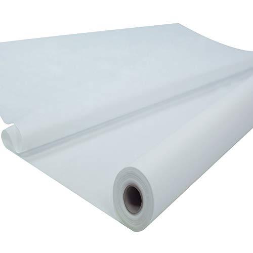 Sensalux Tischdeckenrolle, stoffähnliches Vlies, Oeko-TEX Standard 100 - Klasse I Zertifiziert, Farbe + Größe wählbar (Weiß, 1,20 m x 25 m)
