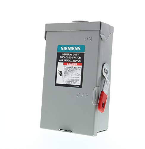 SIEMENS 2P 60A 240V General Duty Safety Switch Outdoor, Non-Fusible