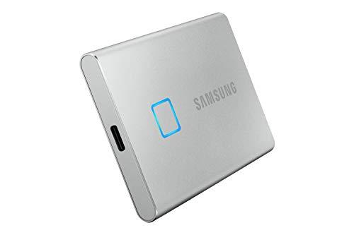 Samsung T7 Touch Portable SSD - USB 3.2 Gen.2 SSD Externo Plateado ...