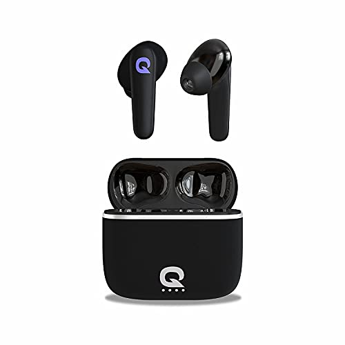 Quantum SonoTrix X True Wireless Earbuds TWS, 6 Hours Playback 42 Hours with Charging Case, Bluetooth 5.0, IPX5 Sweatproof, Touch Controls, Voice Assistance, Dual Mic, Type-C Fast Charging (Black)