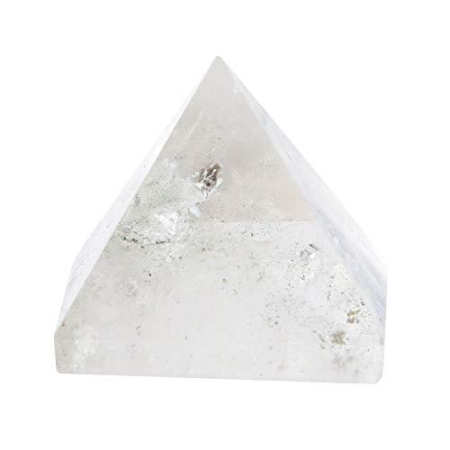 Natürlicher Kristallquarz, klare Energiepyramide Kristallviolette Farbe Quarz Hauptdekoration Student Apartment Ornament 100% Natürlicher Kristallturm