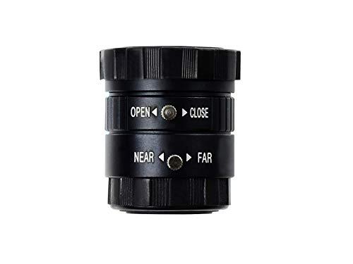 Waveshare Raspberry Pi Industrial Wide Angle Lens,63° Field Angle, 6mm CS-Mount Wide Angle Lens for Raspberry Pi Camera