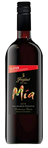 Mia Tinto Wein 1, halbtrocken, Rotwein aus Spanien, Begleiter für viele Gerichte, (1 x 1 l)
