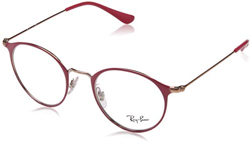 Ray-Ban 0RX 6378 2974 47 Montature, Rosso (Copper Top On Bordeaux), Unisex-Adulto