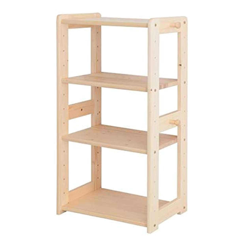 り弁護士発表天然木 北欧デザイン キッズ家具シリーズ オープンラック単品 ナチュラル